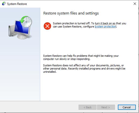 Perform a System Restor