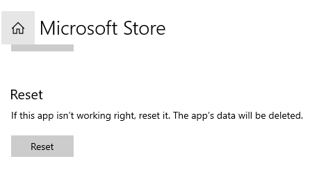 How to reset the Microsoft Store