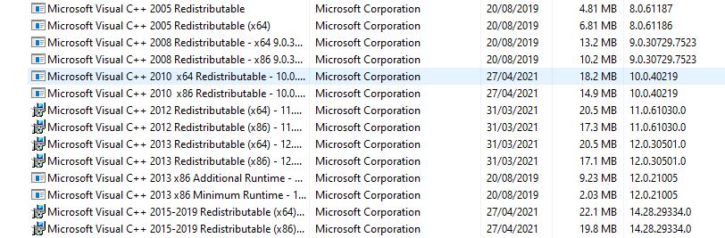 Update Visual C++ Redistributable for Visual Studio 2012