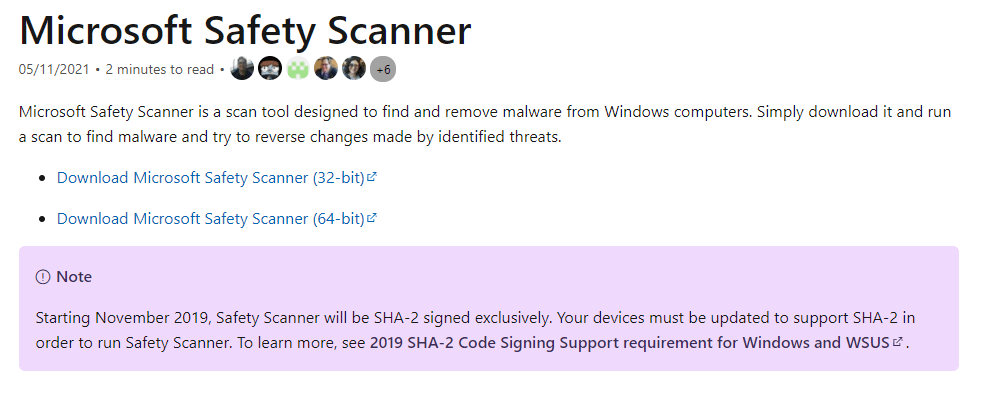 Scan your computer for malware and remove it