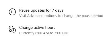 Try pausing and restarting Windows Update