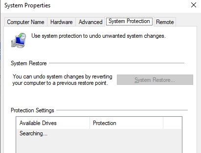 Look for a System Restore point on your computer