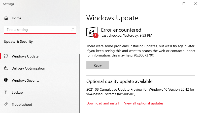 There are times when the update process needs assistance